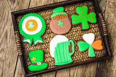 Homemade cakes on the day of St. Patrick Stock Images
