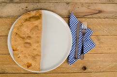 Homemade calzone Stock Photos