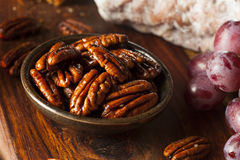 Homemade Candied Pecans with Cinnamon Royalty Free Stock Photos