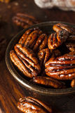 Homemade Candied Pecans with Cinnamon Royalty Free Stock Images