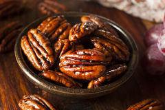 Homemade Candied Pecans with Cinnamon Royalty Free Stock Photography