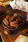 Homemade Candied Pecans with Cinnamon Stock Photos