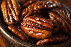 Homemade Candied Pecans with Cinnamon Royalty Free Stock Image