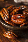 Homemade Candied Pecans with Cinnamon Stock Images