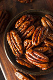 Homemade Candied Pecans with Cinnamon Stock Photography