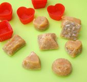 Homemade candies Stock Images