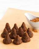 Homemade candy. On parchment paper Royalty Free Stock Photography