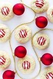 Homemade Candy Cane Kiss Cookies Royalty Free Stock Photo