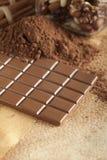 Homemade candy - chocolate, cocoa and cinnamon sticks Stock Photography