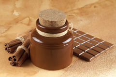 Homemade candy - chocolate, cocoa and cinnamon Royalty Free Stock Photos