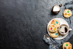 Homemade Candy Coated Cookies Stock Images