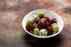 Homemade candy truffles. Stock Photography