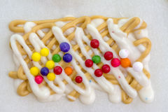 Homemade Candy on wax paper Stock Images