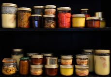 Homemade canned food Stock Photos