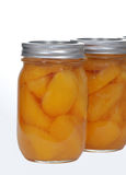 Homemade canned peaches Royalty Free Stock Photos