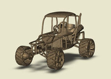Homemade car picture isolated Royalty Free Stock Photography