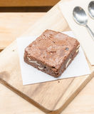 Homemade caramel chocolate brownies Royalty Free Stock Images