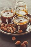 Homemade caramel with nuts Royalty Free Stock Image