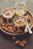 Homemade caramel with nuts Royalty Free Stock Images