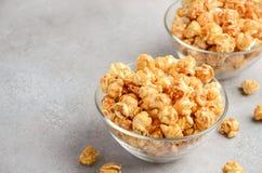 Homemade Caramel Popcorn Stock Images