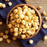 Homemade caramel popcorn Stock Photos