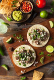 Homemade Carne Asada Street Tacos. With Cheese Cilantro and Onion Royalty Free Stock Photography
