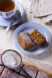 Homemade carrot and banana cake with nuts and spices Royalty Free Stock Photography