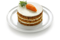 Homemade carrot cake royalty free stock photos
