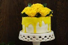 Homemade carrot cake Stock Image