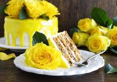 Homemade carrot cake Royalty Free Stock Photography