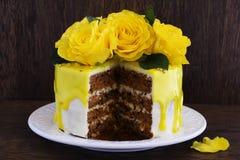 Homemade carrot cake Stock Photography