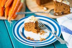 Homemade carrot cake on plate Stock Image