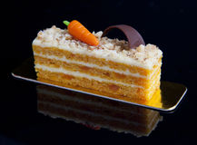 Homemade carrot cake Stock Images