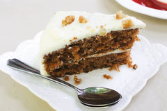 Homemade Carrot Cake with walnut Royalty Free Stock Photo