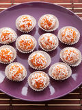 Homemade carrot candies Royalty Free Stock Image