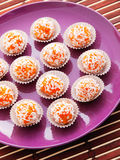 Homemade carrot candies Royalty Free Stock Photos
