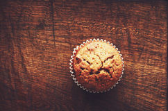 Homemade carrot muffin with empty space Royalty Free Stock Image