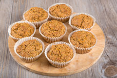 Homemade carrot muffins Royalty Free Stock Photography