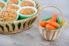 Homemade carrot muffins Stock Images