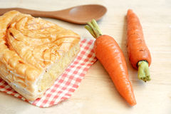 Homemade carrot pie Royalty Free Stock Photo