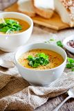 Homemade Carrot And Potato Soup Stock Images
