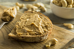 Homemade Cashew Peanut Butter Royalty Free Stock Photos