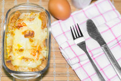 Homemade casserole breakfast Royalty Free Stock Photography