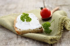 Homemade cheese cream Stock Photos