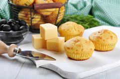 Homemade cheese muffins Royalty Free Stock Images