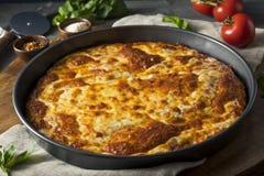 Homemade Cheese Pan Pizza. Ready to Eat stock photos
