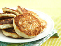 Homemade cheese pancakes Stock Images