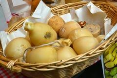 Homemade cheese pecorino Stock Photography