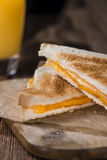 Homemade Cheese Sandwich (selective focus) Royalty Free Stock Image