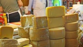 Homemade cheese shapes Stock Photos